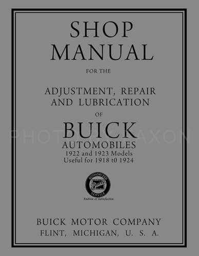 1922 23BuickRRM 1918 1924 buick repair shop manual reprint all models 2010 Buick Lacrosse Wiring-Diagram at mifinder.co