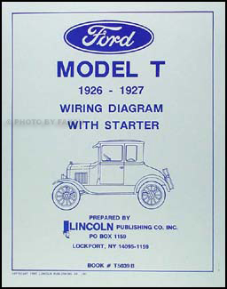 1926 1927 ford model t wiring diagram manual reprint rh faxonautoliterature com Model A Wiring Harness Ford Generator Wiring Diagram