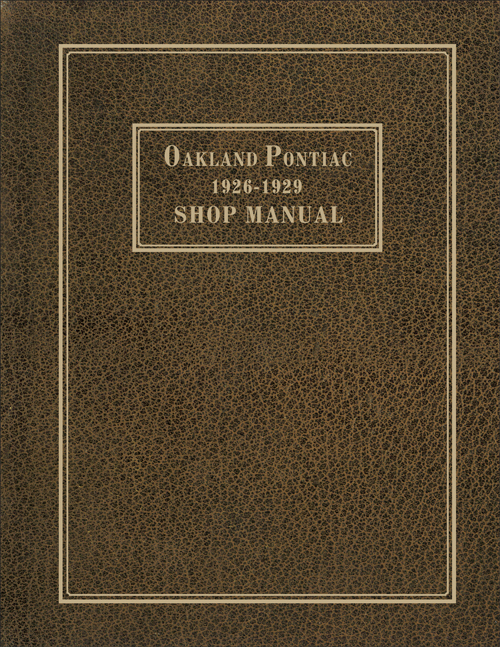 1926 29PontiacRRM 1926 1929 pontiac and oakland repair shop manual reprint 1929 Pontiac Sedan Model at gsmportal.co
