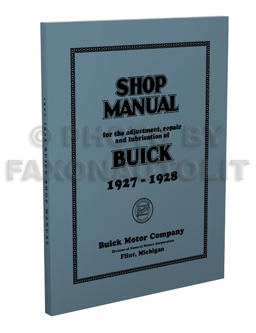 1928 buick repair shop manual original supplement 1927 1928 buick repair shop manual reprint