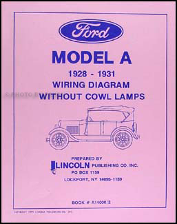 1928 1931 ford model a without cowl lamps wiring diagram reprint1931 Ford Engine Diagram #7
