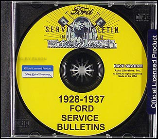 1928-1937 Ford Service Bulletins Manual CD-ROM