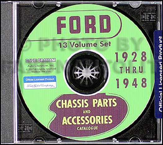 1928-1948 Ford Parts Book CD-ROM Green Bible plus Body Parts Books