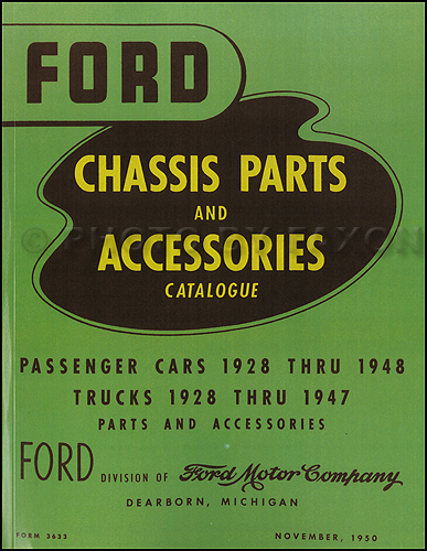 1928-1948 Ford Green Bible Mechanical Parts Book Reprint