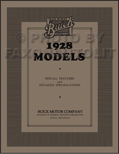 1927 1928 buick repair shop manual reprint 1928 buick special features specifications manual reprint