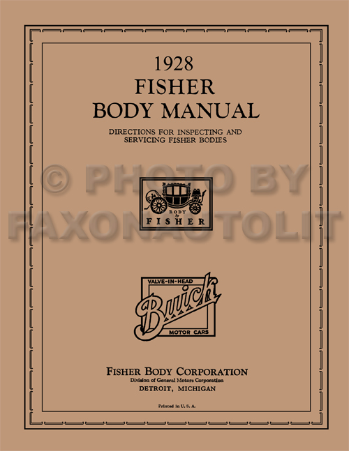 1927 1928 buick repair shop manual reprint 1928 buick only coupe and sedan fisher body manual reprint