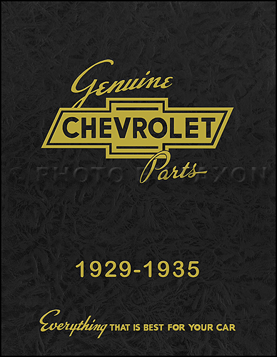 1929-1935 Chevrolet Master Parts Book Reprint