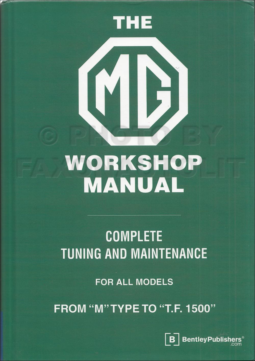 1929-1955 MG Bentley Repair Manual
