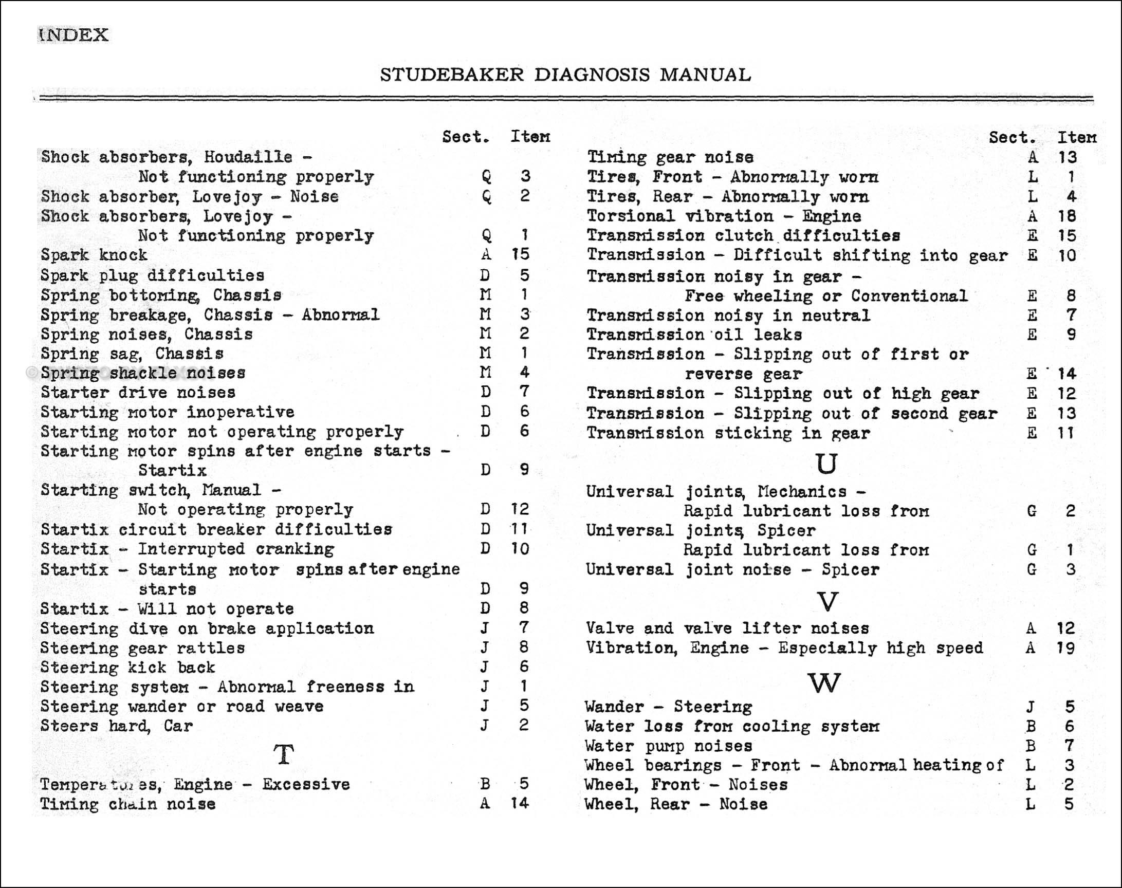 1934 studebaker service manual reprint dictator commander. Black Bedroom Furniture Sets. Home Design Ideas
