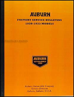 1930-1933 Auburn Service Bulletins Reprint