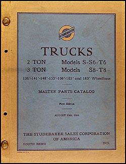 1930-1934 Studebaker 2-Ton & 3-Ton Truck Master Parts Catalog