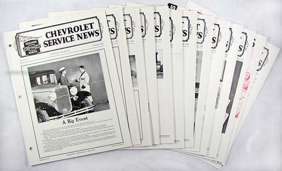 1931 Chevrolet Service News (12 issues) reprint