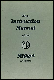 1932-1934 MG Midget J Series Repair Manual Reprint