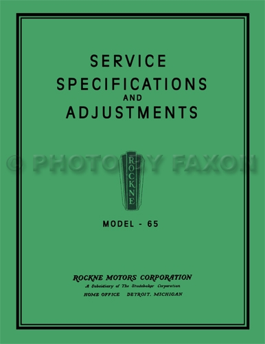 1932 rockne model 65 repair shop manual reprint