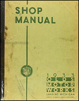1933 Oldsmobile Repair Manual Original