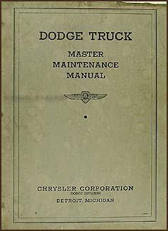 1934-1935 Dodge Truck Repair Shop Manual Original