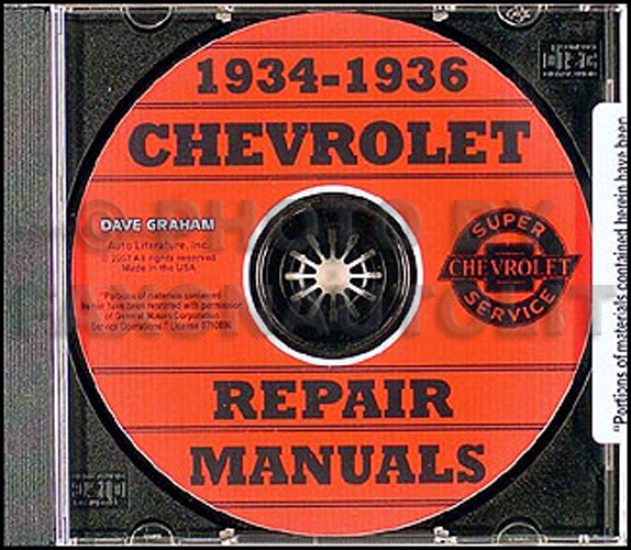 1934 1936 chevy cd rom repair shop manual for all car truck