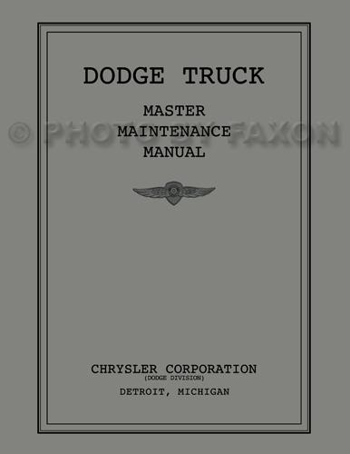 1934-1936 Dodge Pickup/Truck Shop Manual Reprint