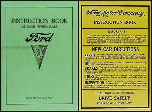 1934 ford v8 car pickup owner s manual reprint rh faxonautoliterature com ford owner manual download ford user manual focus