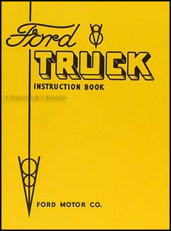 ford  ton truck owners manual reprint