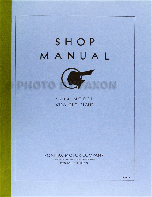 1934 Pontiac Shop Manual Reprint