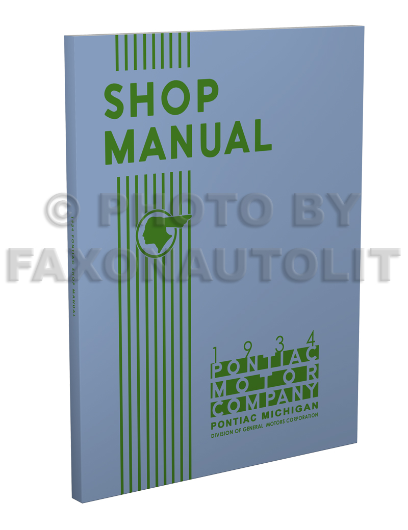 1934 Pontiac Shop Manual Reprint