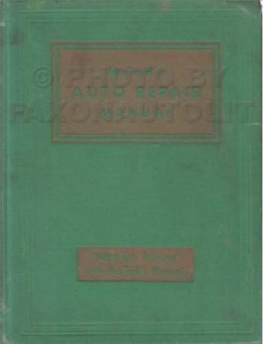 1935-1942 Motors Shop Manual for US Cars