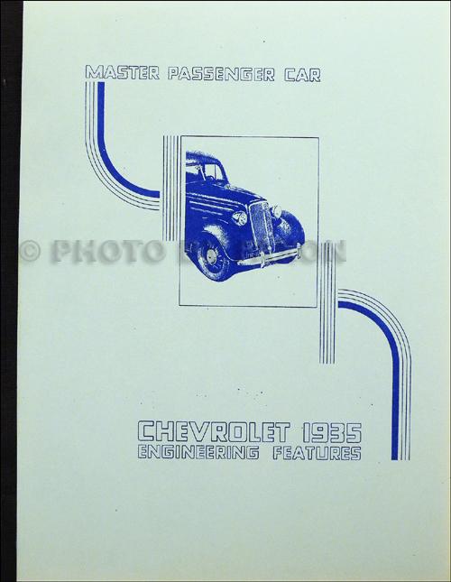1929 1935 chevrolet master parts book reprint