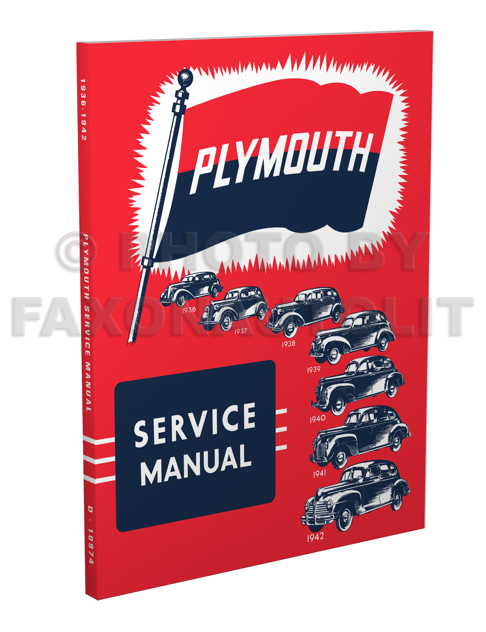 1936-1942 Plymouth Shop Manual Reprint for All Models