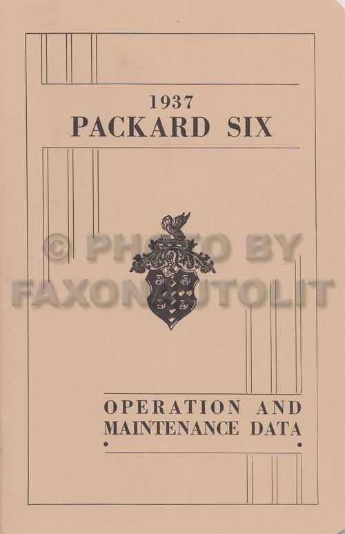 1937 Packard Repair Shop Manual Reprint