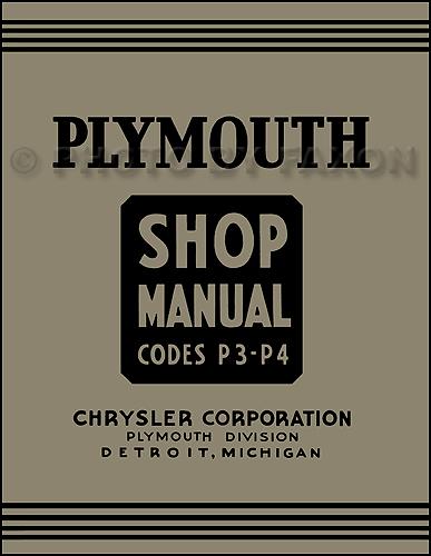 1937 plymouth repair shop manual reprint. Black Bedroom Furniture Sets. Home Design Ideas