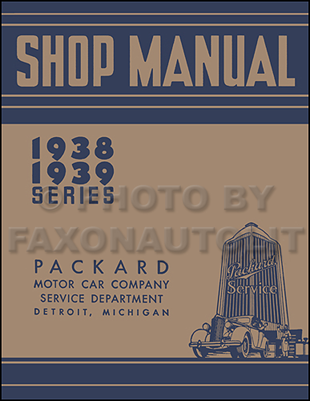 1941 Packard Shop Manual Set Reprint for Super Eight 160 & 180