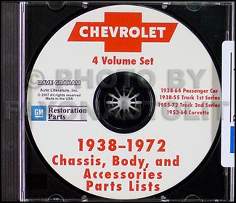 1967-1972 Chevy 1/2 Thru 1 Ton CD-ROM Parts Illustrations