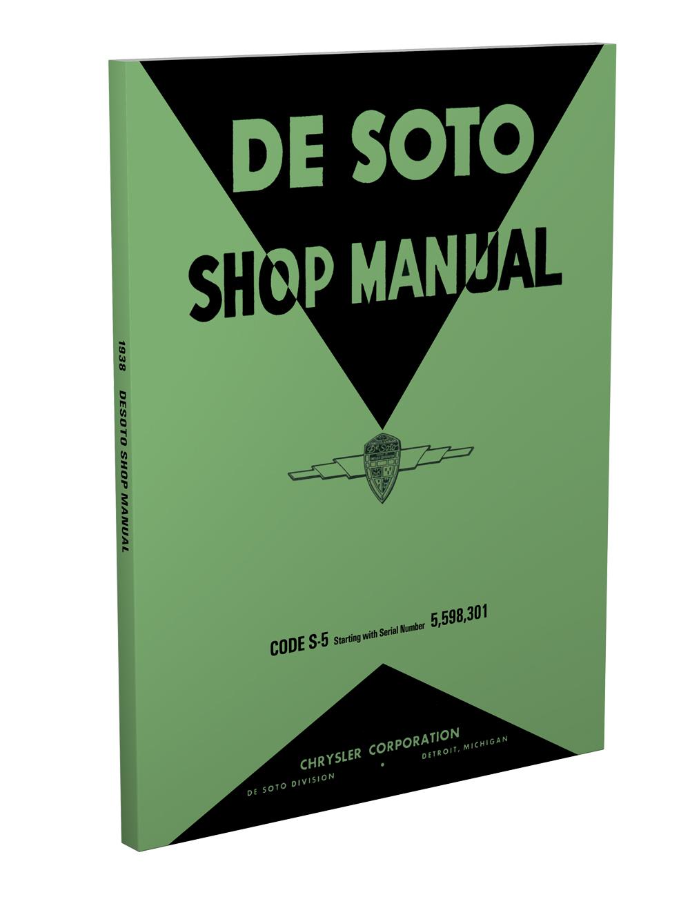 1938 De Soto Shop Manual Reprint