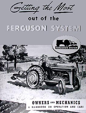 ford    ferguson system reprint owners manual