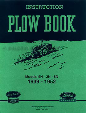 Ford 2N/8N/9N Tractor Plow & Implement Reprint Owner Manual Set