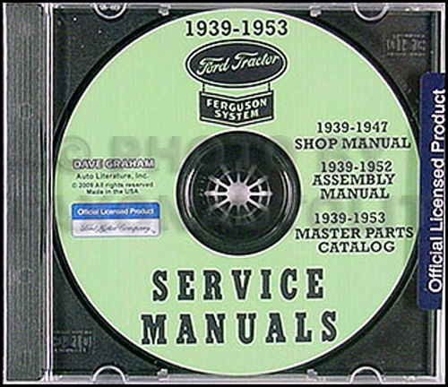 1939-1947 ford tractor 2n and 9n repair shop manual set on cd, Wiring diagram