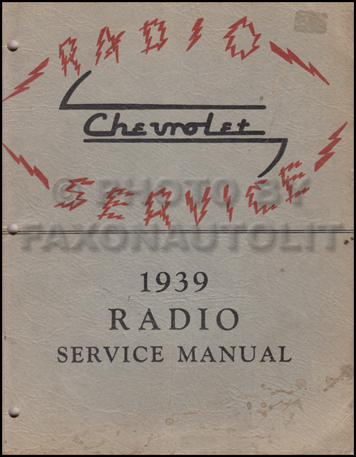 1939 chevy radio manual original car corvette truck rh faxonautoliterature com