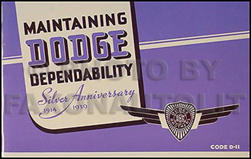 1939 dodge car owners manual reprint publicscrutiny Gallery