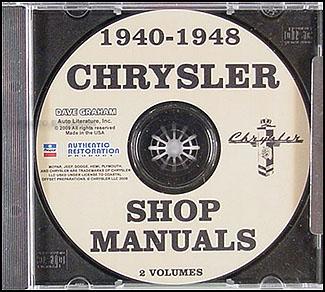 1940-1948 Chrysler CD-ROM Shop Manual