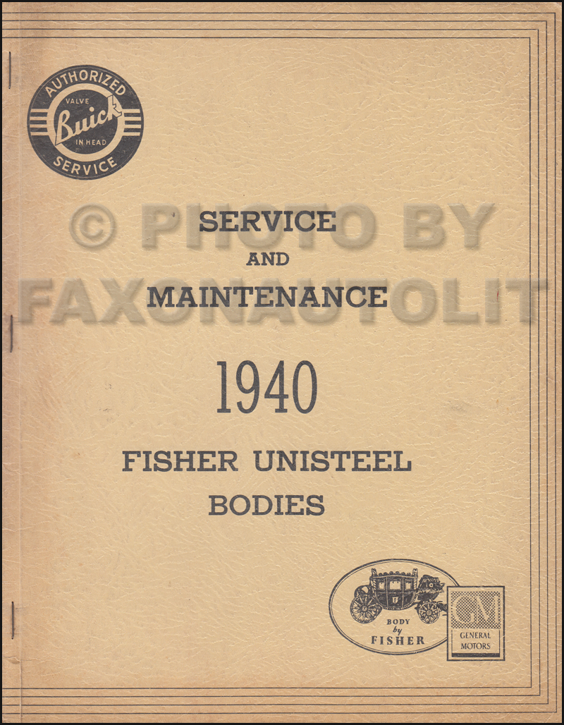 1940 Buick only Body Repair Shop Manual Original Special Century Super  Roadmaster