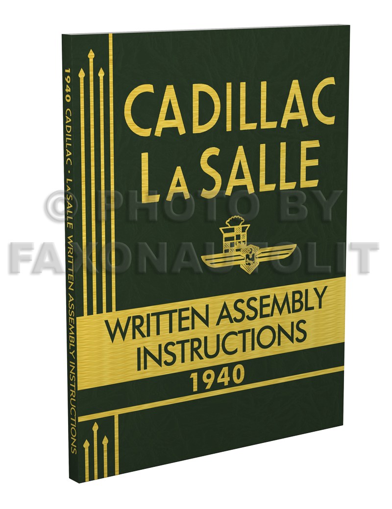 1940 cadillac and lasalle assembly manual written instructions also useful 1941 ebay. Black Bedroom Furniture Sets. Home Design Ideas