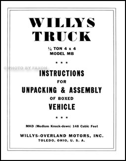 1943 jeep willys wire diagram willys mb ford gpw military jeepwillys mb ford gpw military jeep repair shop manual reprint related items