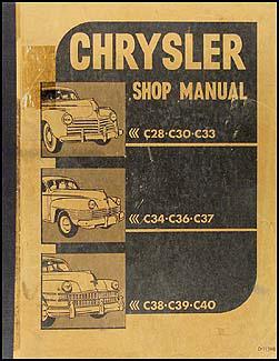 1940 1948 chrysler cd rom repair shop manual 1941 1948 chrysler repair shop manual original all models