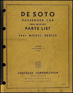 1941DeSotoCarPrelimOPB 1941 1948 desoto factory repair shop manual reprint 1941 desoto wiring diagram at reclaimingppi.co