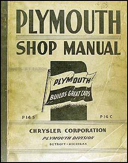 1942 Plymouth Shop Manual Original