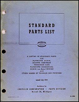 1930-1944 MoPar Nuts and Bolts Parts Book Original