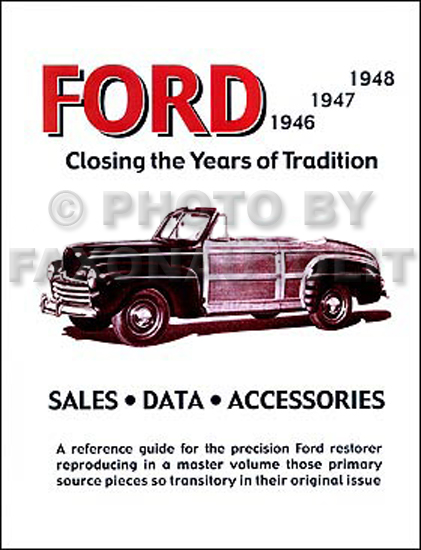 1946-1948 Ford Car Accessories & Specifications Manual Reprint