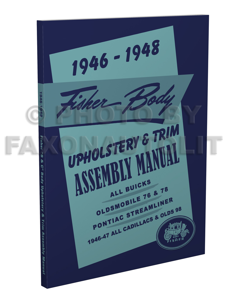 1946 1948 fisher body upholstery assembly manual buick olds 76 78 98