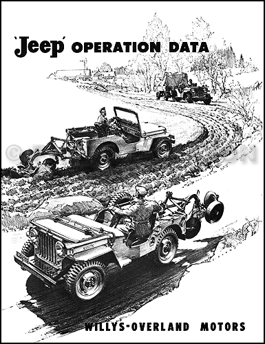 jeep willys service manuals shop  owner  maintenance and repair faxon page 2 1953 Willys Jeep Willys CJ3B Hardtop